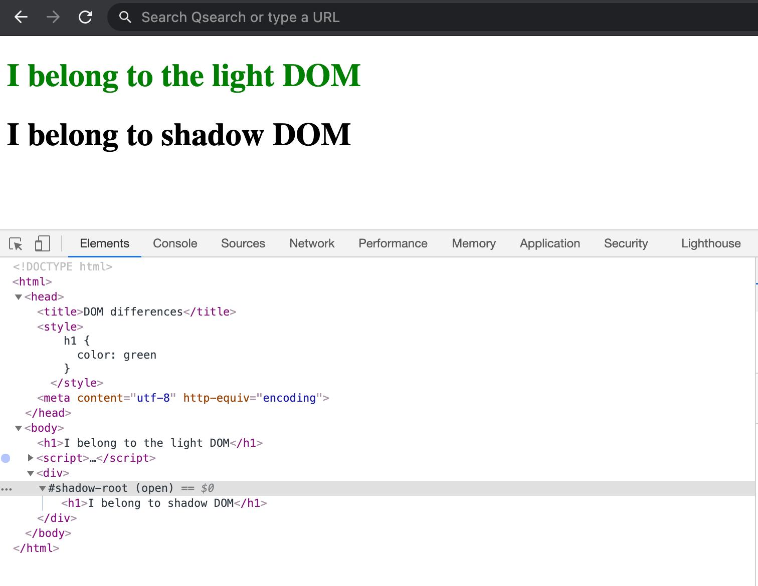 I belong to the light DOM