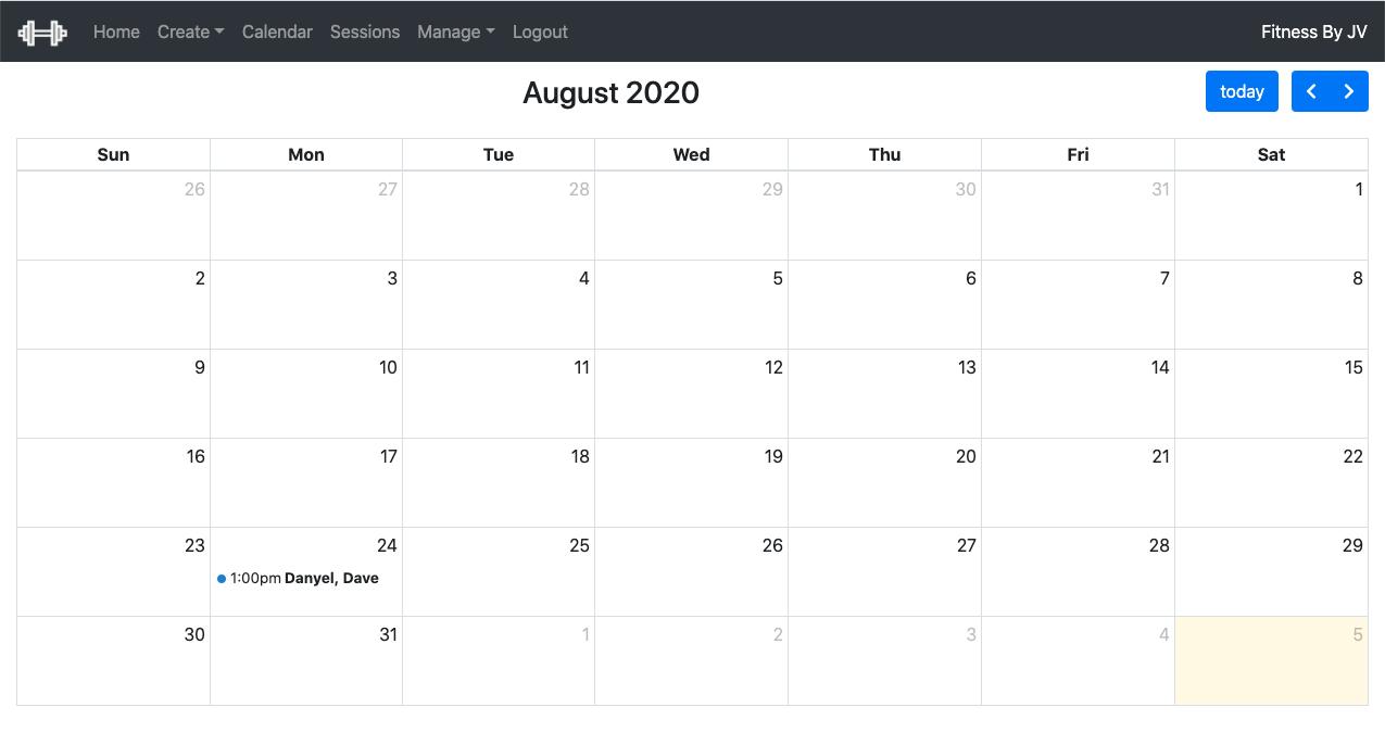 Calendar in FitNess